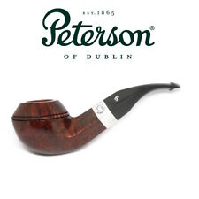 New Peterson Pipe Sherlock Holmes Squire Silver Band & P Lip