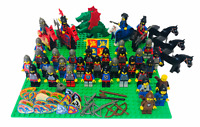 Vintage Lego Castle Knights Classic Minifigures Large Bundle with Accessories