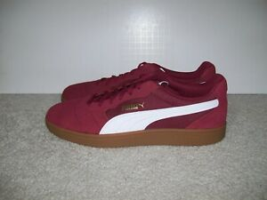 NEW Mens Puma Classic Maroon Burgundy Suede Casual Emboss Lace Up Roma 369115-05