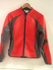 NIKE GOLF SIZE S Small (4-6) Full ZIP FRONT JACKET TEXTURED Red Orange Gray