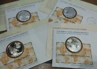 The Great Explorers Medals Silver Proof PNC Franklin Mint +Info Sheet Multi-List