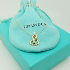 Tiffany & Co. 18K Yellow Gold Snake Pendant  & Classic Link Chain Necklace 18""