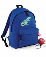 Personalised Dinosaur Rucksack Backpack, Girls Boys Dino School Bag, 4 colours
