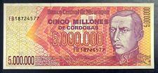 Nicaragua 5000000 Cordobas 1990 UNC  MONEY BILL BANK NOTE 6829