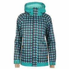Zip Polyester Checked Outdoor Coats & Jackets for Women