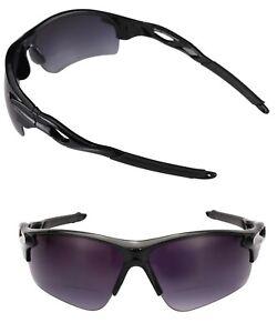 """The Athlete"" 2 Pair of Unisex Precision Sport Wrap Bifocal Reading Sunglasses"