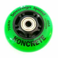 8x 76mmOutdoor Inline Skate Wheels with Bearings Rollerblade Hockey Fitness 90A