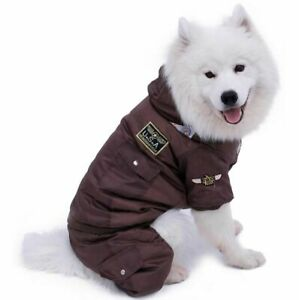Dog Winter Clothes Small Large Big Dogs Warm Coat Thick Pet Jumpsuit USA Hoodie