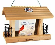 New listing Woodlink Deluxe Cedar Bird Feeder with Suet Cages Model At4
