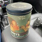 Vintage Hershey's Kisses Milk Chocolate Tin. Empty. Pre-owned 1980's