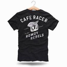 Kurzarm Herren-T-Shirts aus Baumwolle mit Cafe Racer