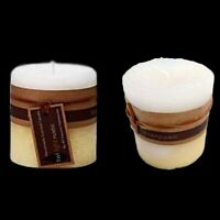 2 X Frangipani Scented Pillar Candle Candles Rustic Home Decor 7x7cm Fragrance