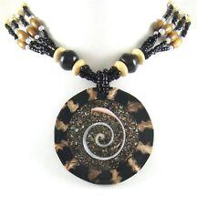 CONE SHELL, SHIVA EYE & SEA SHELL BEADS necklace ;FA036