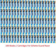 100 Pcs Gillette Guard Razor Blades Cartridges For Safe Smooth Shave Gilette