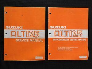 1983 1984 Suzuki 125 ALT125 3-WHEEL Trike Atv Reparación Manual Juego Muy Bueno