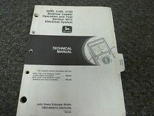 John Deere 300D 310D 315D Backhoe Loader Electrical Service Repair Manual TM1496