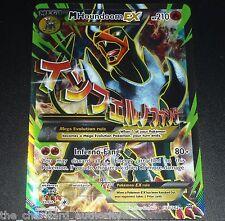 Mega M Houndoom Ex 154/162 Xy BreakThrough Full Art Pokemon Card Near Mint