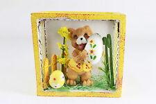 Decoración De Pascuas Conejo en la cesta POLYSTONE madera Alambre 7,5 x 8x4cm
