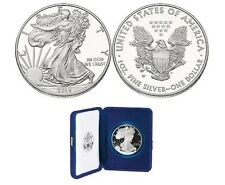 CAMEO PROOF 2014-W WEST POINT MINT AMERICAN SILVER EAGLE WITH BOX & COA