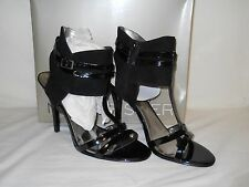 Marc Fisher New Womens Sashay Black T Strap Heel Sandals 10 M Shoes NWB