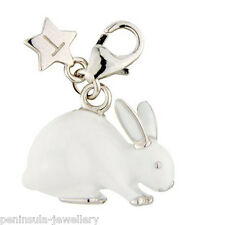 Sterling Silver clip on Charm Tingle Rabbit with Gift Bag and Box