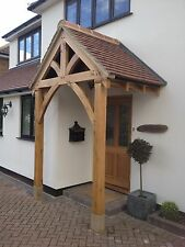 "BESPOKE GREEN OAK PORCH FRONT DOOR CANOPY HANDMADE IN SHROPSHIRE ""Grosvenor"""