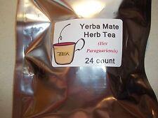 Yerba Mate Leaf Herb Tea Bags (Ilex paraguariensis)  24 count