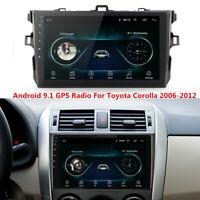 For Toyota Corolla 2006-2012 GPS Navigation Android 9.1 Car Stereo Radio WIFI BT