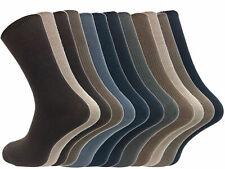 6 Pack Multipack Mens Sock Thin Soft 100% Cotton Rich Black or Brown Dress Socks