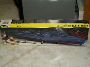 """Revell 1/240 Scale U.S.S. Ward, """"Four Stack"""" Destroyer"""