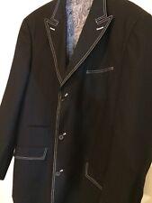 Men's Giorgio Fiorelli Big And Tall Black Jacket Blazer 8 Pockets Size 44