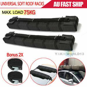 2X Car Roof Soft Racks Top Luggage Carrier Surf Kayak Surfboard Canoe Ski SUP