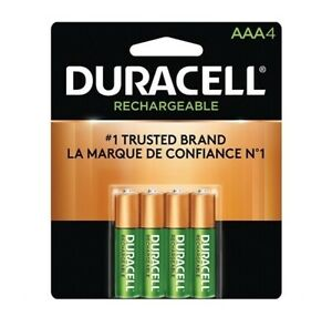Duracell 1.2V Rechargeable NiMH AAA Batteries 900mAh DX2400R4 (Pack of 4)