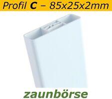 Zaunlatten C (85x25x2mm) weiss L=149cm Profiware Gartenzaun Zaunslatten Balkon