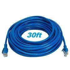 30' ft 30FT RJ45 CAT5 CAT5E LAN Network Cable 4 Ethernet Router Switch US Seller