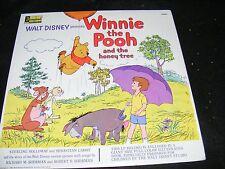Winnie The Pooh & The Honey Tree Disneyland Lp Gatefold with Book Rainbow Label