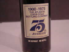 10 OZ, 75th  ANNIVERSARY, 1900-1975 ATLANTA, GA COMMEMORATIVE COKE BOTTLE