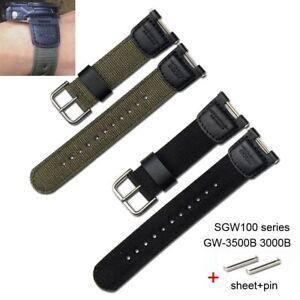 Nylon Watch Strap for G-Shock SGW100 Series FGW-3500B 3000B Canvas Wrist Band
