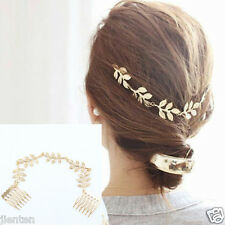 Hot Sale Prettty Women Leaf Style Gold Hair Pin Headband Wedding Party Decorate