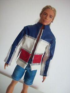 "Barbie KEN Doll Clothes Lot Shoes Fashion Pack Black ""Leather Jacket Shirt Jeans"