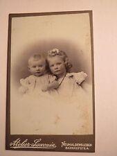 Neuhaldensleben - 2 kleine Kinder - Baby und Mädchen - Portrait / CDV
