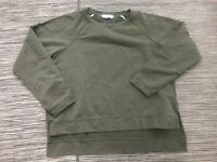 Two By Vince Camuto Dip Hem Pullover Sweater Women's Small Long Sleeve Green