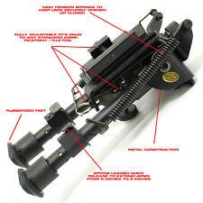 "Amp Tactical 6""- 9"" Spring Load 00006000 ed Sniper Hunting Airsoft Bipod + Picatinny Mount"