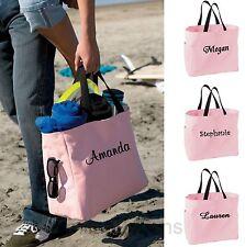 Personalized Tote Bag Bride Bridal Bridesmaid Teacher Cheer Team Gift Pink