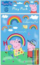 PEPPA PIG GEORGE GIOCO Pack LIBRO da colorare A4 & A5 PAD CON COLORE MATITE peppk 1