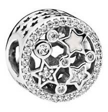 PANDORA Original Charm 796373CZ Glanzvolle 925 Silber Sterne Zirkonia Neu   /324