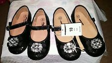 New lot of 2 girls dressy black shoes cherokee from target black glitter 9 10