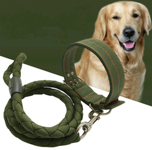 Dog Leash and Collar Large Extra Big Dog Harness Strong Nylon Rope Heavy Duty