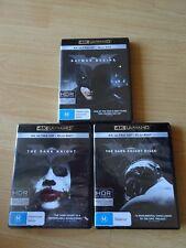 Dark Knight Trilogy (Batman Begins, Dark Knight, Dark Knight Rises) 4K + Blu Ray