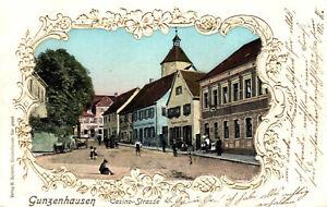 79715- Jugendstil Ak Prägedruck Gunzenhausen Casinostrasse 1901